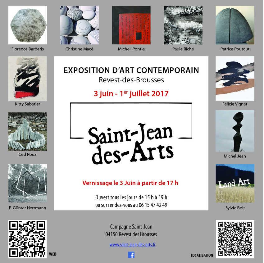 Saint-Jean-des-Arts  Affiche de l'exposition Juin 2017