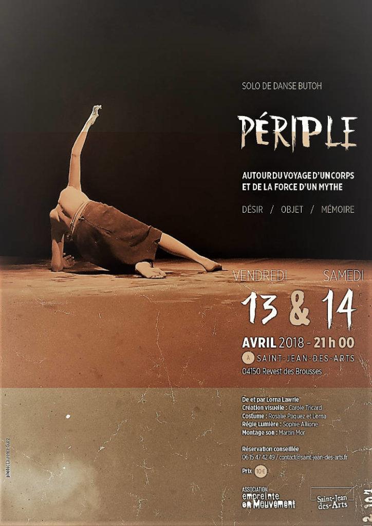Périple un spectacle de danse butoh - Lorna Lawrie à Saint-Jean-des-Arts