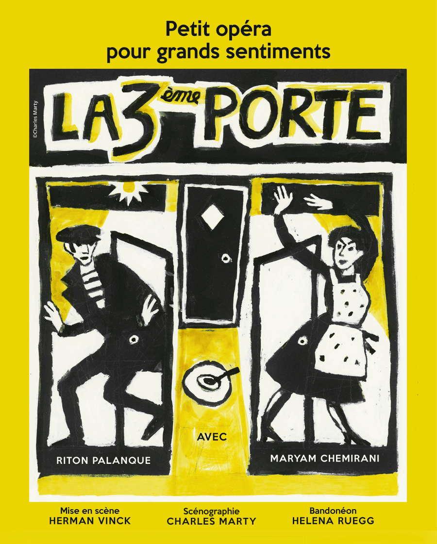 Saint-Jean-des-Arts / La troisième porte - mise en scène Herman Vinck - scénographie Charles Marty avec Maryam Chemirani, Riton Palanque & Héléna Ruëgg