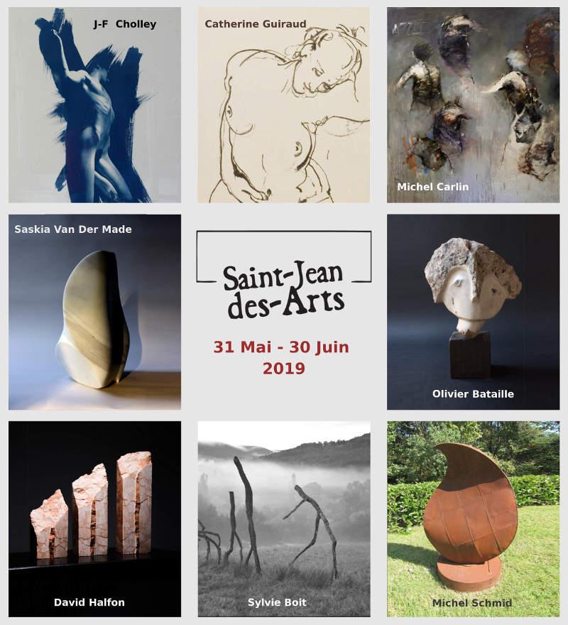 Saint-Jean-des-Arts Juin 2019 - Exposition d'art contemporain 31 mai-30 juin