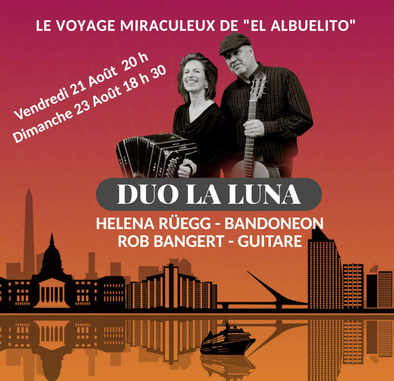 DUO LA LUNA  - Helena Rüegg Bandoneon & Rob Bangert Guitare